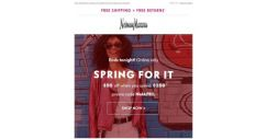 [Neiman Marcus] Final day: $50-$200 off!