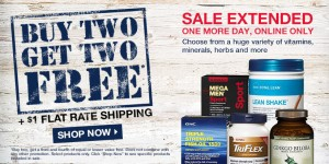 Buy 2, Get 2 FreeOn Select Vitamins, Supplements @ GNC