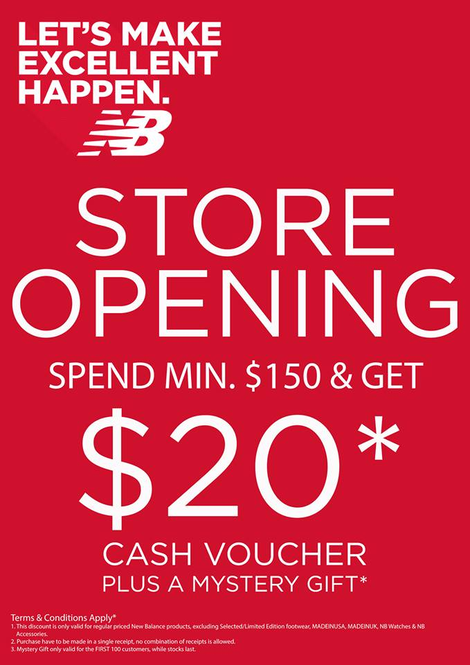 nouveau concept 88f3f a91d8 Bugis New Store Opening Promotion by New Balance - 👑BQ.sg ...