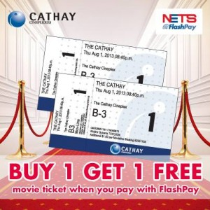 Buy 1 Get 1 FREE at Cathay Cineplexes with FlashPay