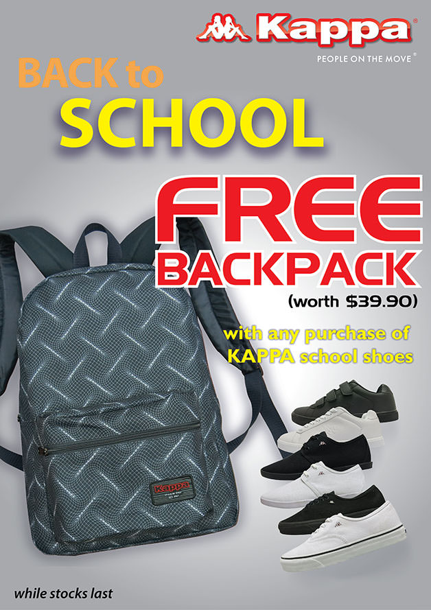 ab3f57dfbf Free Backpack With Purchase Of Any Kappa Shoes at Kappa - 👑BQ.sg ...