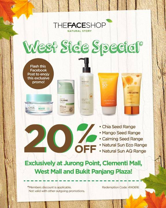 The Face Shop | West Side Special 20% off from selected ranges