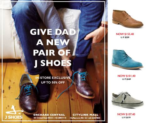 J-shoes | Fathers' Day Special promotion up to 50% off