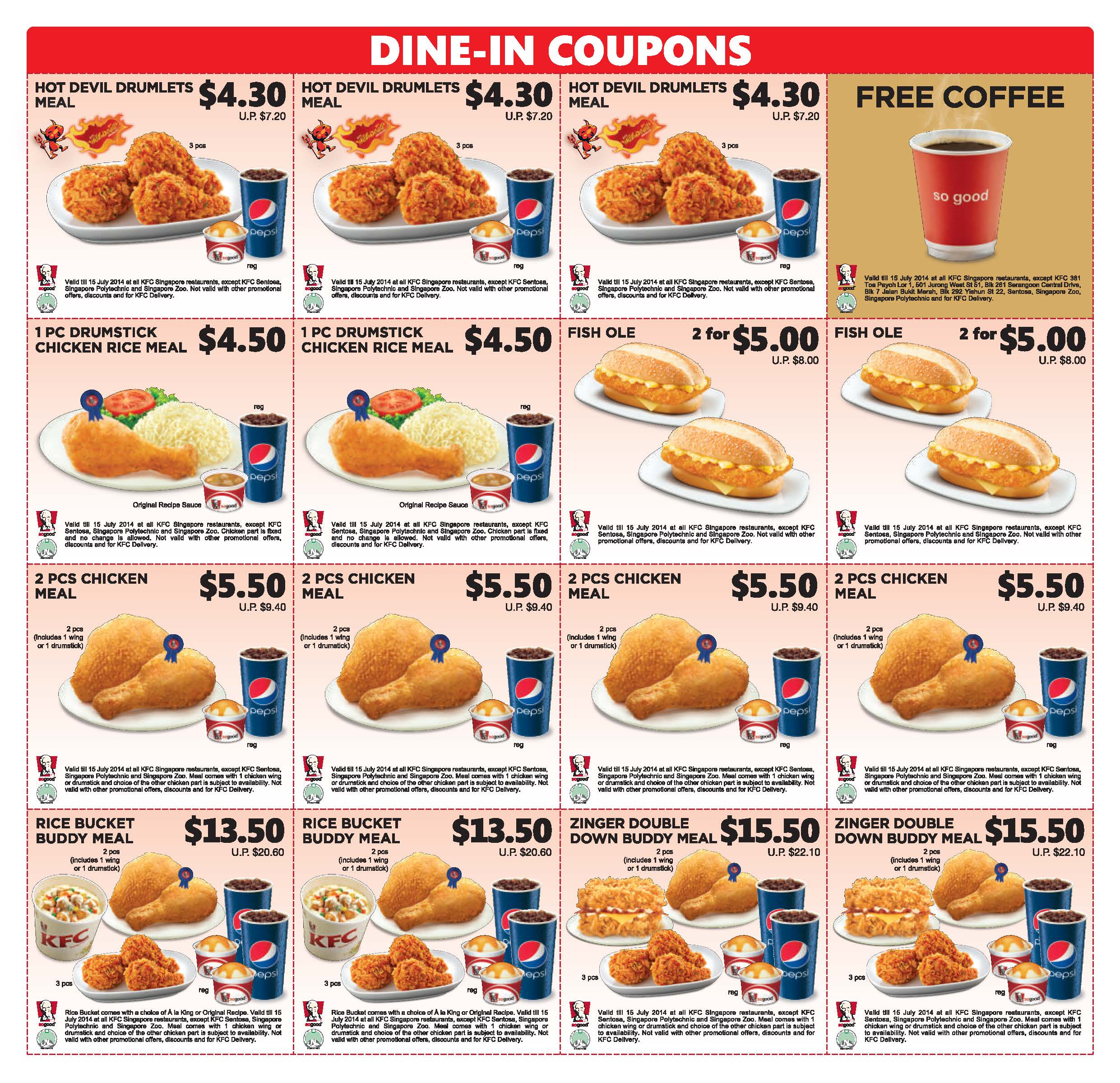 picture relating to Kfc Printable Coupons titled Kfc sg discount coupons / Discount codes mesa arizona