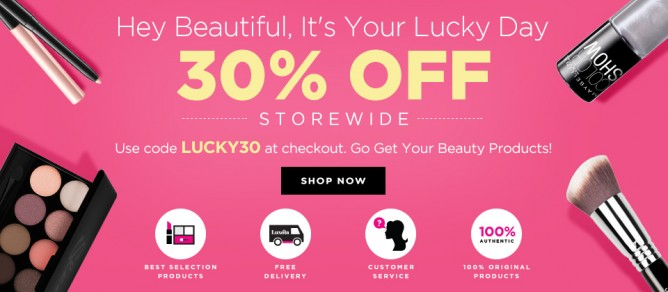 Luxola | 30% off beauty products promo code - BQ.SG BargainQueen
