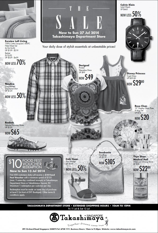 The sale ad