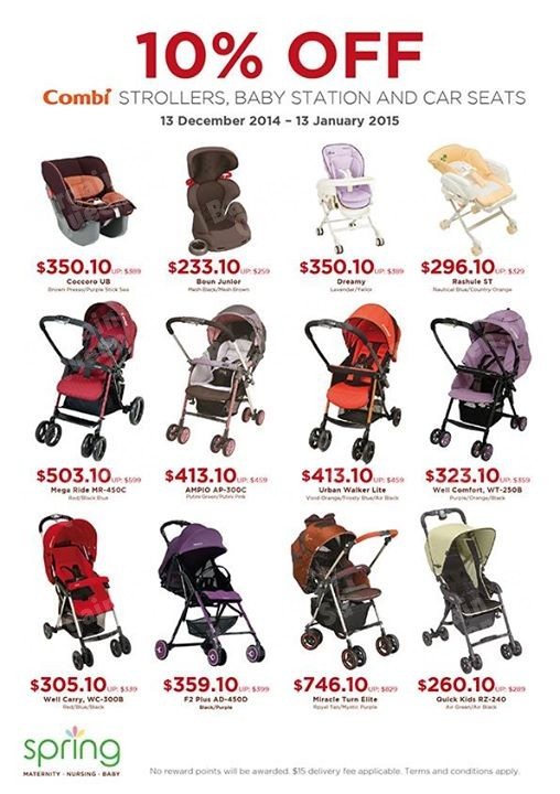Spring Maternity & Baby | 10% off combi strollers - 👑BQ.sg ...