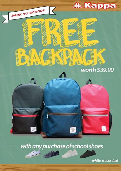 044e110ce0 Back to school promotion is now on. Receive a free backpack with any  purchase of Kappa school shoes.