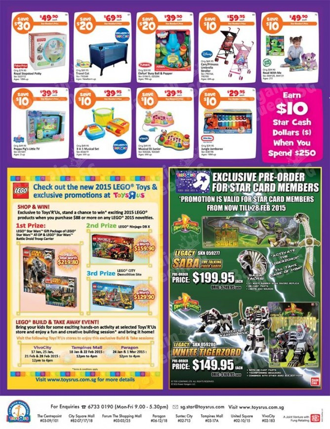 Star Card Members Offers @  Toys