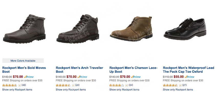 Rockport shoes sales on Amazon 50% off