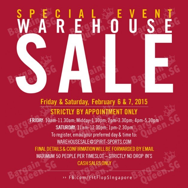 858c541a9 FitFlop Singapore Warehouse Sale Special Event is strictly by appointment  only this 6 to 7 February 2015.