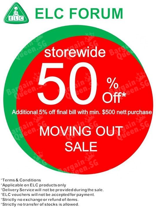 store wide 50 off moving out sale early learning centre till 31
