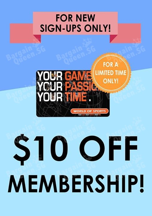 10 membership sign up promotion world of sports promo price 39