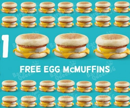 Free egg mcmuffintm giveaway coupon