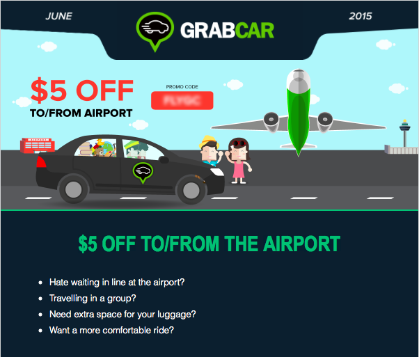 Grab Taxi 5 Off To From Airport Via Grabcar Till 30 June 2015