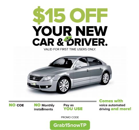 GrabCar: S$15 OFF Coupon Code for your first use July 2015 - 👑BQ sg