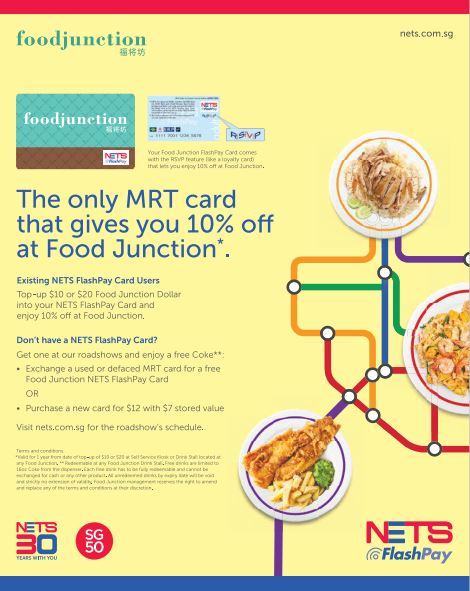 Food junction 10 off for nets flash card users valid for 1 year if you eat frequently at food junction heres a deal you cant miss get and enjoy the only mrt card that gives you 10 off at food junction forumfinder Gallery