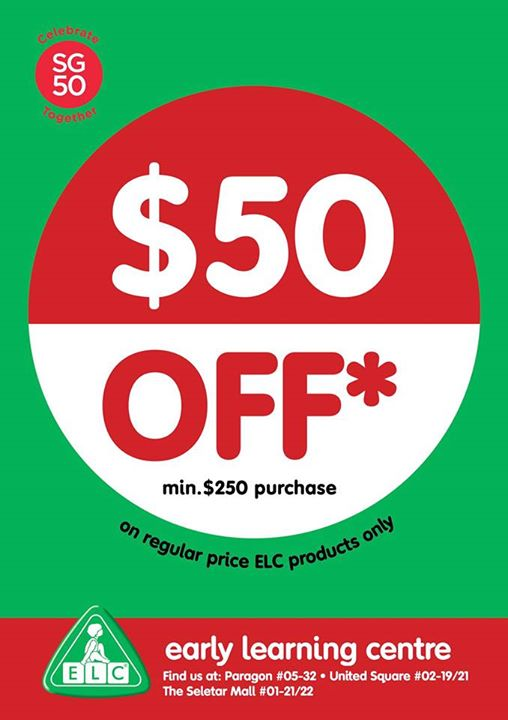 Early Learning Centre 50 Off Minimum Purchase Of 250 Till 10