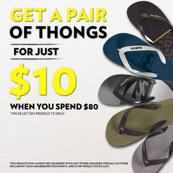 f6a277756f5e Source order 7ddf9 17506  Get a pair of Billabong thongs for just 10 when  you spend 80 in store this ...
