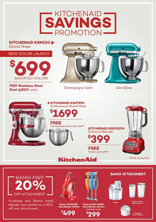 Mayer: KitchenAid Savings Promotion   👑BQ.sg BargainQueen Design Ideas