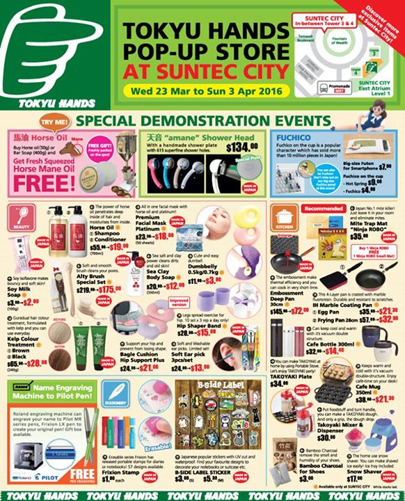 TOKYU HANDS: Pop-Up Store at Suntec City - Special Gifts and