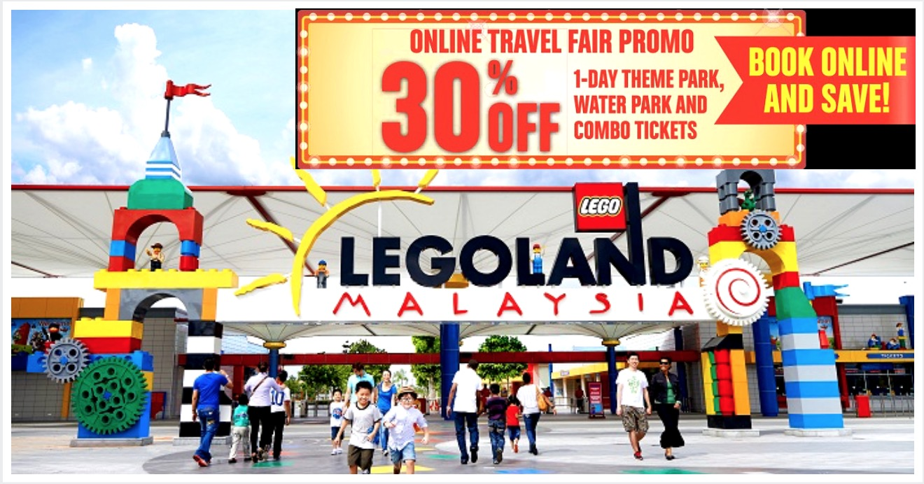 Legoland: 30% OFF 1-Day Theme Park, Water Park & Combo