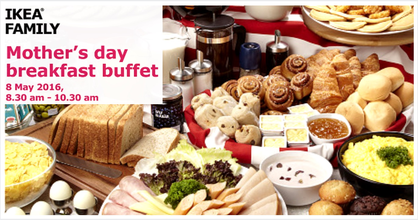 free may ikea motherus day breakfast buffet with promotion. Black Bedroom Furniture Sets. Home Design Ideas