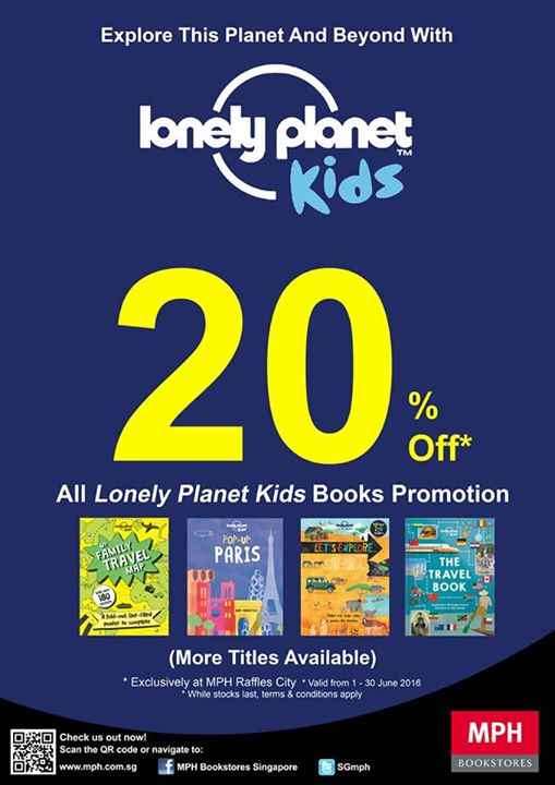 MPH: 20% off all Lonely Planet Kids Books at MPH Raffles