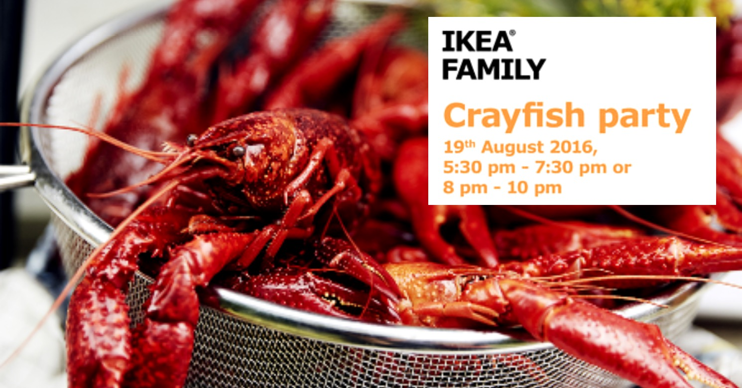 Simple Aug Ikea Crayfish Buffet Party With Promotion Ikea