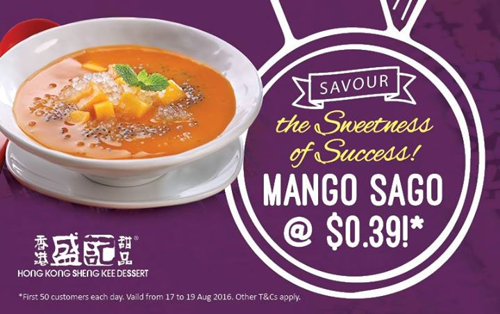 Hong Kong Sheng Kee Dessert First 50 Customers Daily Enjoy Mango