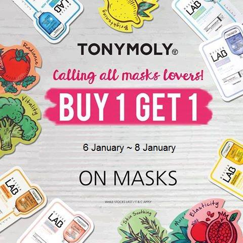 21b6e6c6306  Tony Moly Singapore  2017 Tonymoly First 1+1 mask event ! 3 days only !  Available at our Jurong Point 2 and Bugis Junction Outlets . - 👑BQ.sg  BargainQueen