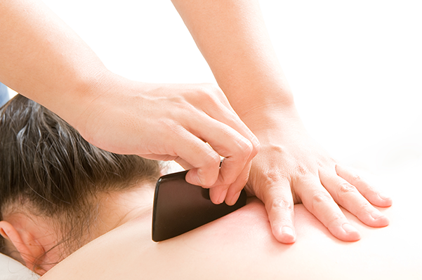 Kin Teck Tong] Scraping is a TCM treatment in which the skin