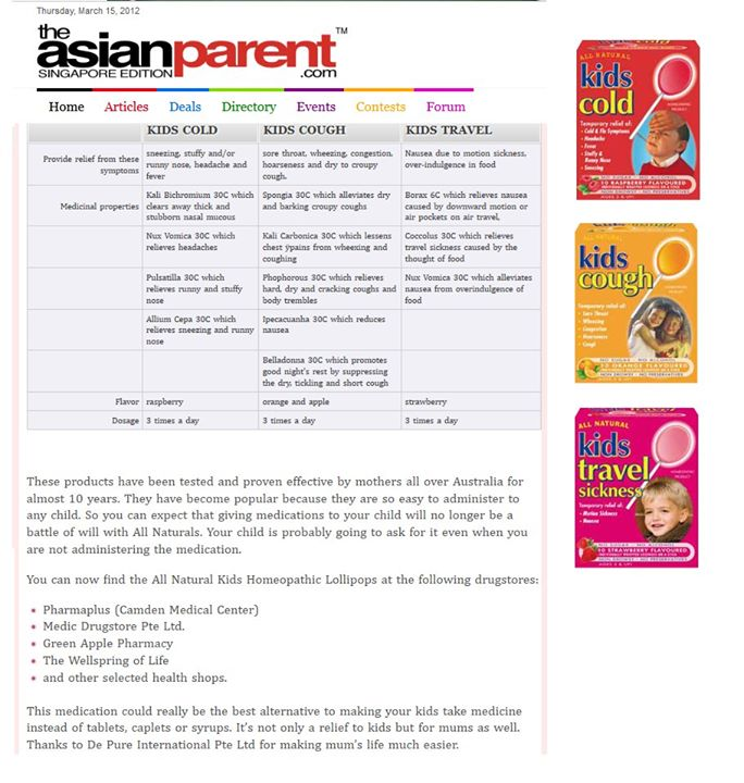 Nichebabies] SHARING TIME: **** Homeopathic lollipops for kids