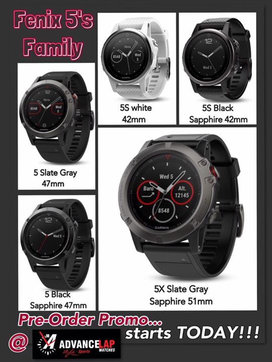 Advance Lap Garmin Fenix 5 Coming Real Soon Pre Order With Us