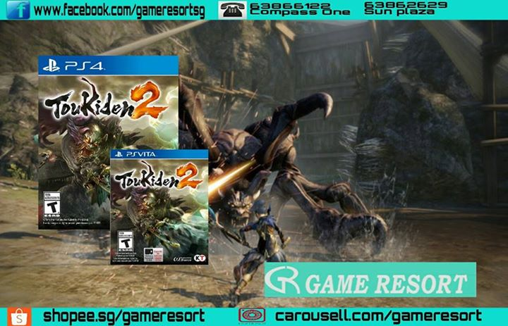 GAME RESORT] PS4 & PSVITA Toukiden 2 (English), Fight to