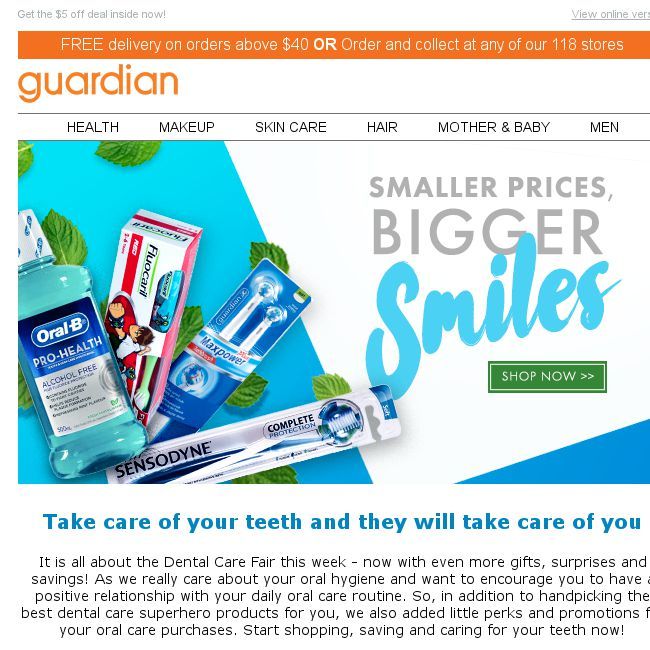 Guardian] Dental superheroes come with gifts  Want $5 off and a pair
