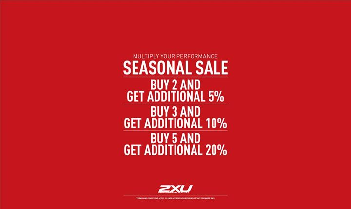 d33973282 Look out for the National Day Sale at 2XU Performance Outlet ( 02-26) in Changi  City Point. Sale is valid from today till 13 August!