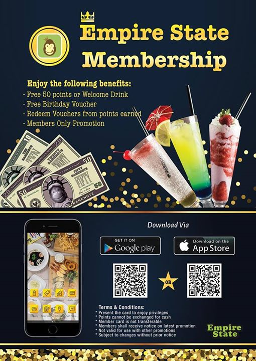 Empire State] Download Empire State App to stay tune to our latest
