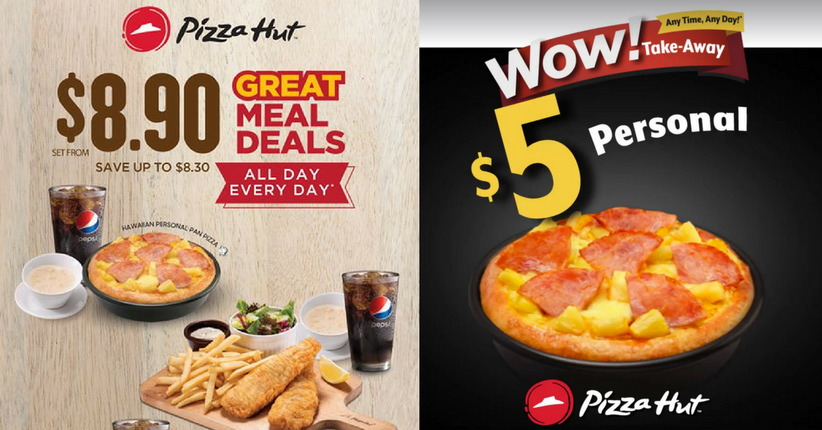 Pizza Hut Great Meal Deals From Just 8 90 Takeaway Pizzas From Only 5 Bq Sg Bargainqueen