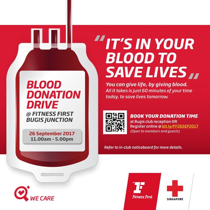 Fitness First Blood Donation Drive You Can Give Life By