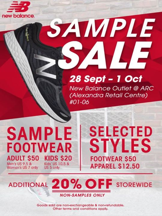 638ad38499c7e [Alexandra Retail Centre] Don't miss out on New Balance Sample Sale  starting tomorrow, 28 Sep till 1 Oct!