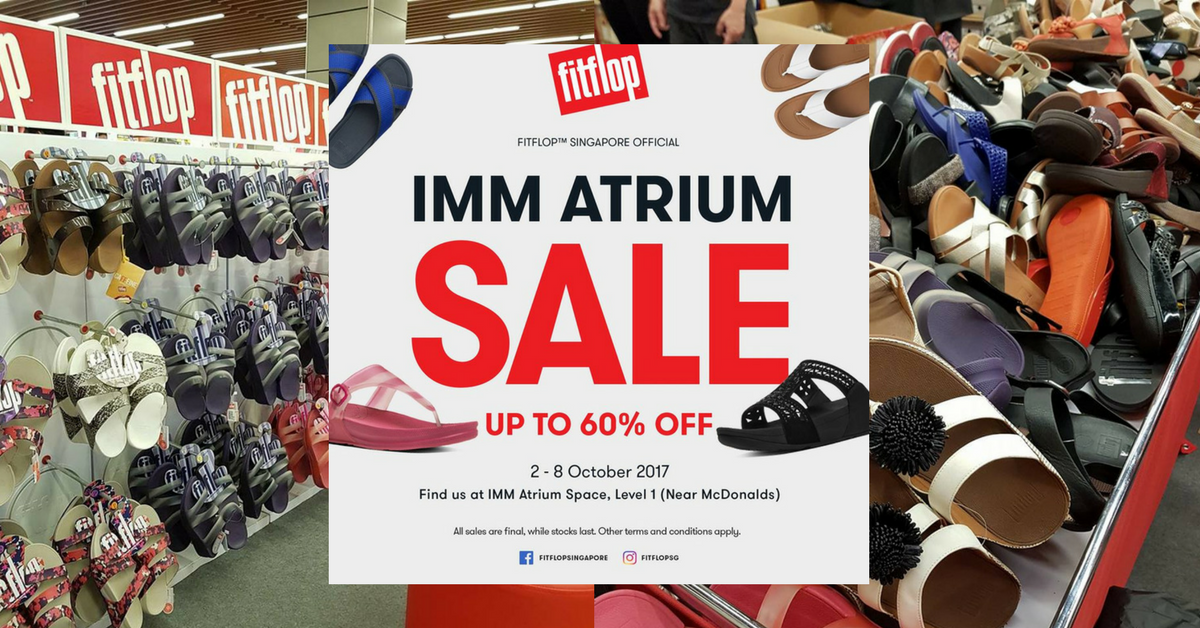 60fa9547f90 FitFlop  Biggest Sale of the Year with Up to 60% OFF Footwear at IMM Till 8  Oct 2017 - 👑BQ.sg BargainQueen
