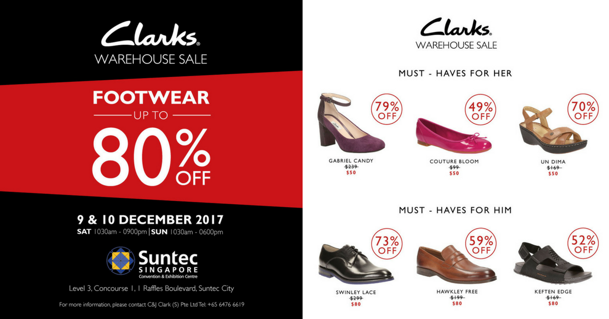 Clarks: Warehouse Sale with Up to 80