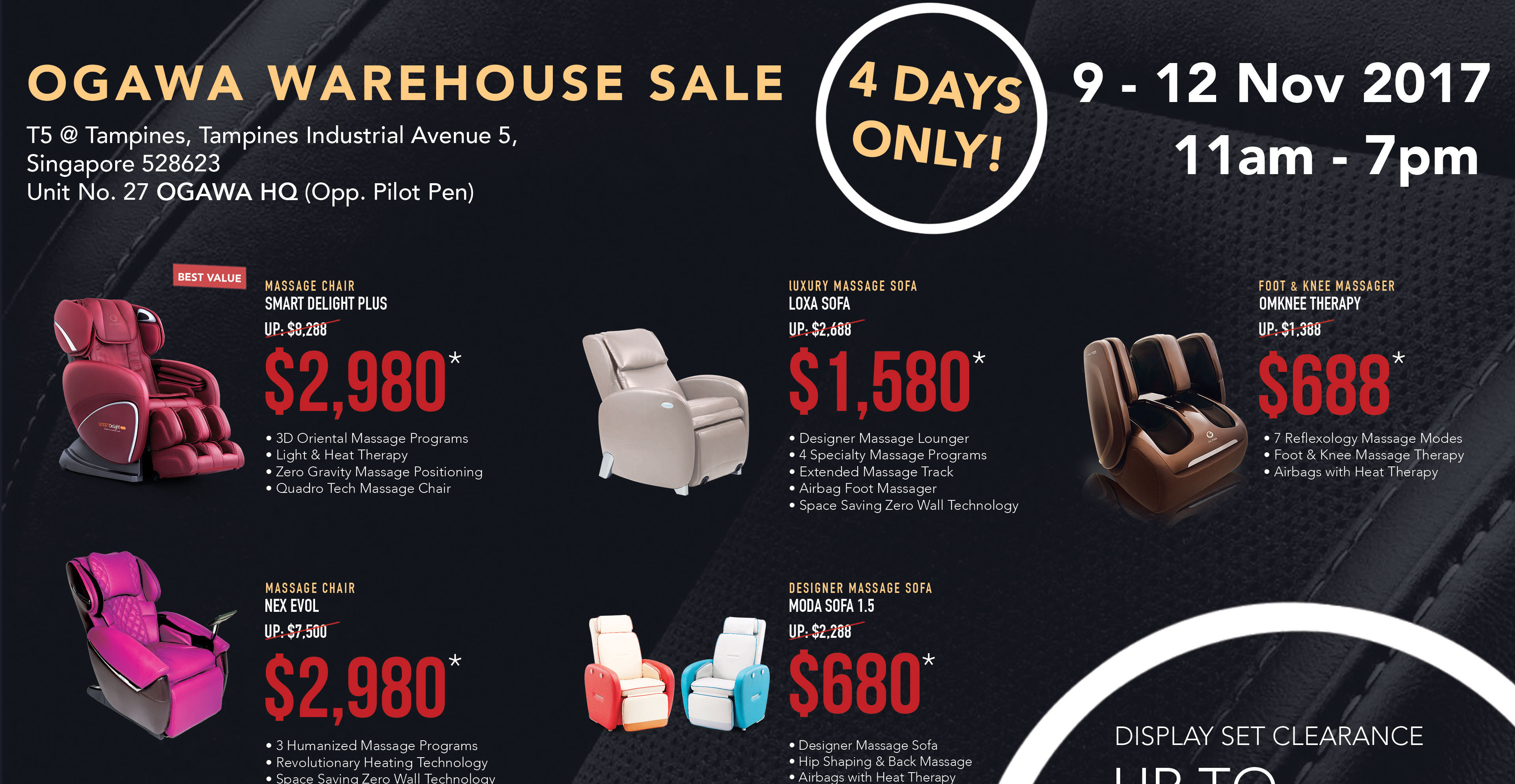 ogawa august 2018 promos sale coupon code bq sg bargainqueen