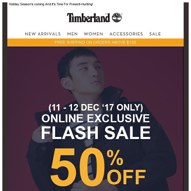7ac090c5313 Timberland] 12.12 Flash Sale. 50% off site wide. Online Exclusive ...