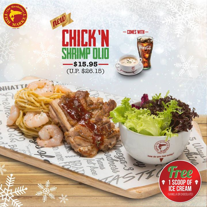 The Manhattan FISH MARKET Singapore  The Christmas celebration begins and  so does our delicious Christmas Set Lunch promotion! - 👑BQ.sg BargainQueen 0e1dd5f7af9