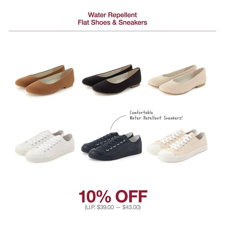 Keep your shoes looking fresh on longer journeys with water repellent flats  and sneakers! Stay fuss-free with aqueous stains easily prevented and enjoy  them ...