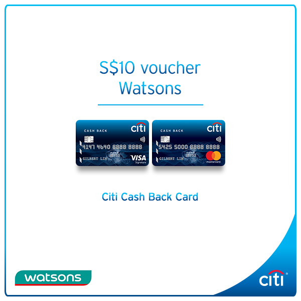 Citibank ATM] Shop new year essentials at Watsons and get a