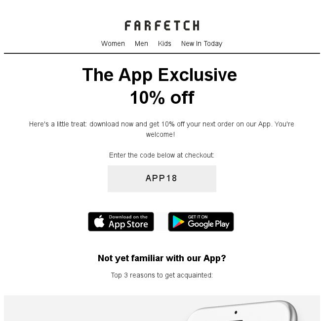 Farfetch 10 Off Exclusively On Our App Bq Sg Bargainqueen