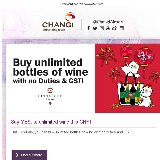 [Changi Airport] Psst , did you know that DFS is offering unlimited wine  purchase this month? -  <a href=